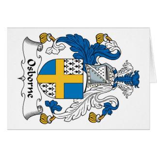 Osborne Family Crest Greeting Card