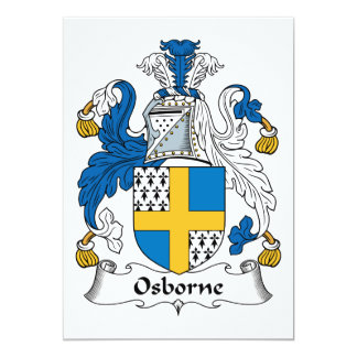 Osborne Family Crest 5x7 Paper Invitation Card