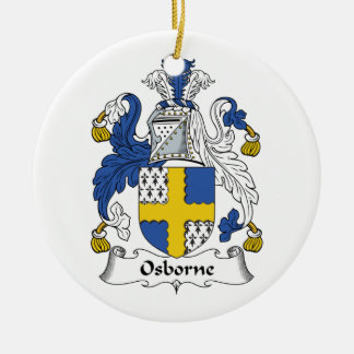 Osborne Family Crest Double-Sided Ceramic Round Christmas Ornament