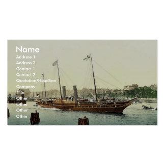 Osborne, royal yacht magnificent Photochrom Business Card Template