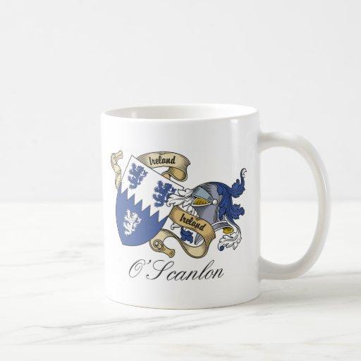 O'Scanlon Family Crest Classic White Coffee Mug