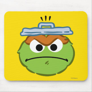Oscar Angry Face Mouse Pad