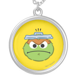 Oscar Angry Face Silver Plated Necklace
