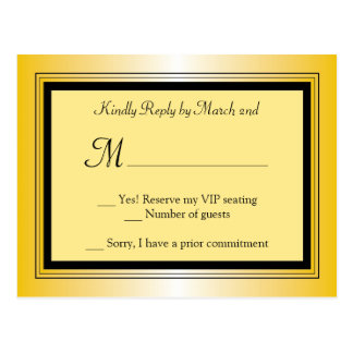 Oscar Award Party RSVP Postcard