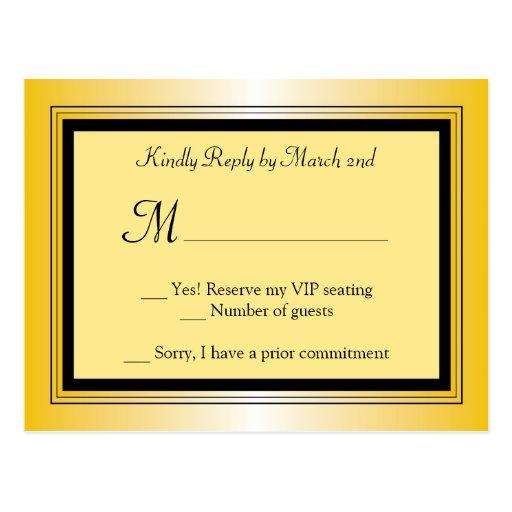 Oscar Award Party RSVP Postcard