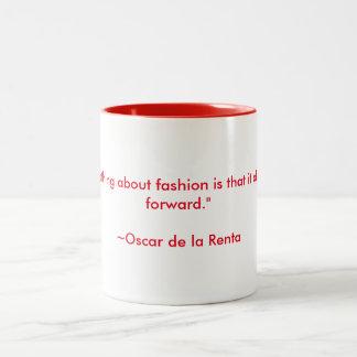 Oscar de la Renta Quote Two-Tone Coffee Mug