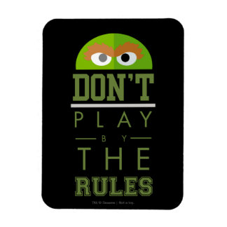 Oscar Don't Play by Rules Rectangle Magnets