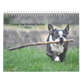 Óscar el calendario de Boston Terrier 2013