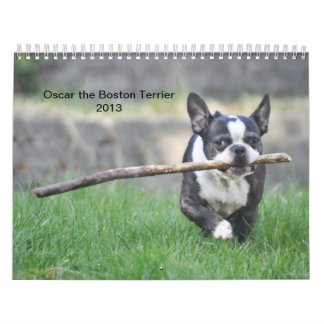 Óscar el calendario de Boston Terrier 2013
