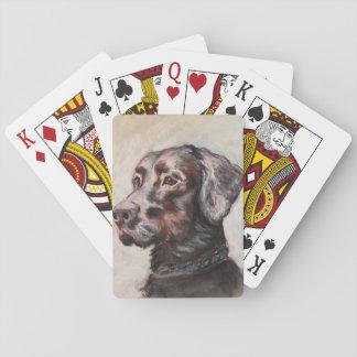 Óscar el laboratorio negro cartas de póquer