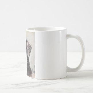 Óscar el laboratorio negro taza básica blanca