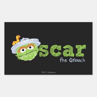 Óscar el nombre del Grouch Pegatina Rectangular