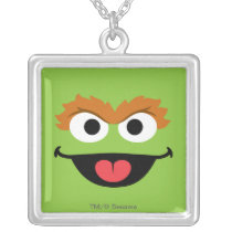 Oscar Face Art Silver Plated Necklace