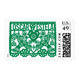 Oscar Hearts Estela Briefmarke