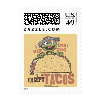 Oscar I Hate Everything Except Tacos Postage