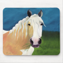 Oscar in the Green Grass horse art mousepad LAWebb