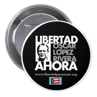 Óscar libre López Rivera Pin Redondo De 3 Pulgadas