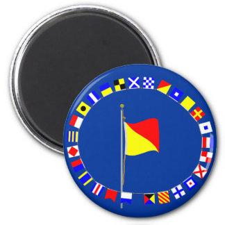 Oscar Man Overboard Nautical Signal Flag 2 Inch Round Magnet