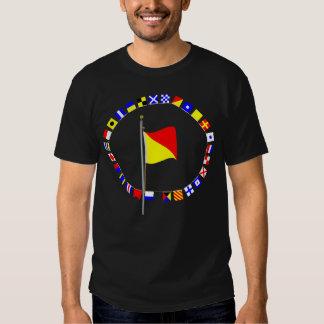 Oscar Man Overboard Nautical Signal Flag T Shirt