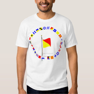 Oscar Man Overboard Nautical Signal Flag Tee Shirt