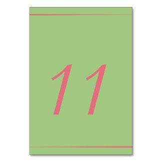 Oscar Mint Garden Wedding Tablecard Card