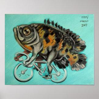 Oscar On A Bicycle Print