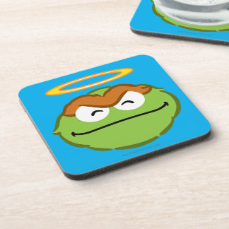 Oscar Smiling Face with Halo Beverage Coaster
