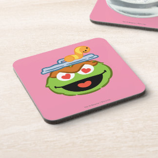 Oscar Smiling Face with Heart-Shaped Eyes Drink Coaster