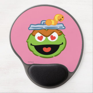 Oscar Smiling Face with Heart-Shaped Eyes Gel Mouse Pad