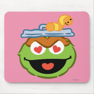 Oscar Smiling Face with Heart-Shaped Eyes Mouse Pad