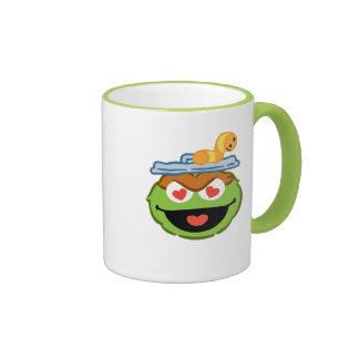 Oscar Smiling Face with Heart-Shaped Eyes Ringer Mug