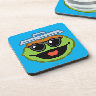 Oscar Smiling Face with Sunglasses Drink Coaster