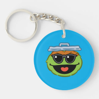 Oscar Smiling Face with Sunglasses Keychain