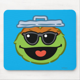Oscar Smiling Face with Sunglasses Mouse Pad
