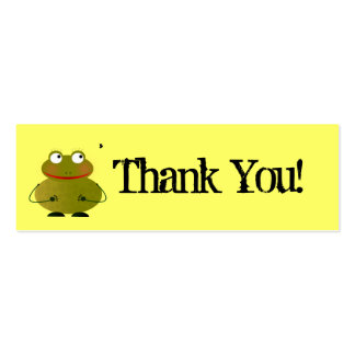 Oscar Thank You Card Double-Sided Mini Business Cards (Pack Of 20)