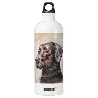 Oscar The Black Lab Aluminum Water Bottle