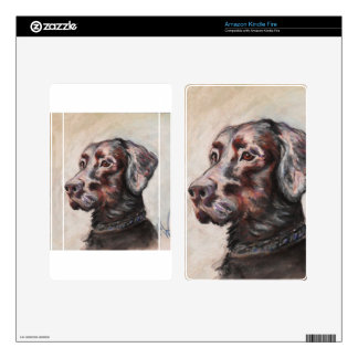 Oscar The Black Lab Decals For Kindle Fire