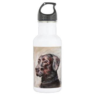 Oscar The Black Lab Stainless Steel Water Bottle