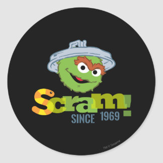 Oscar the Grouch 1969 Classic Round Sticker