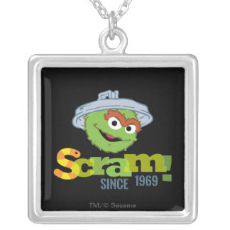 Oscar the Grouch 1969 Silver Plated Necklace
