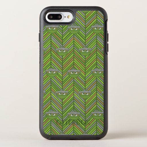 Oscar the Grouch | 80's Throwback Pattern OtterBox Symmetry iPhone 8 Plus/7 Plus Case
