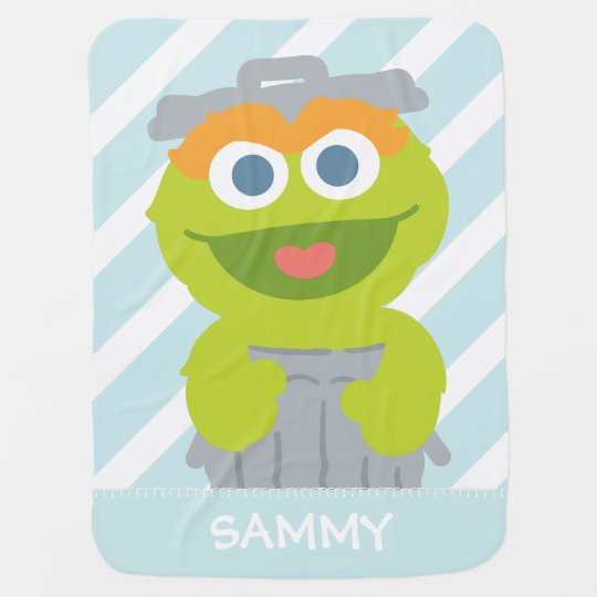 Oscar The Grouch Baby Add Your Name Stroller Blanket