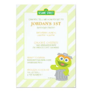 Oscar the Grouch Baby Birthday Card