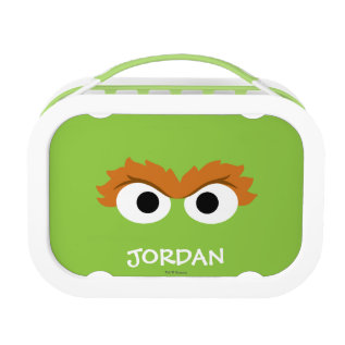 Oscar The Grouch Big Face | Add Your Name Lunch Box at Zazzle