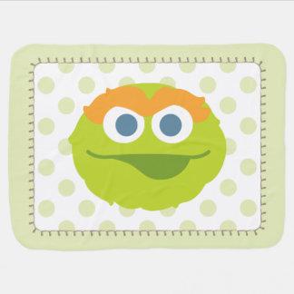 Oscar the Grouch Big Face Baby Blanket