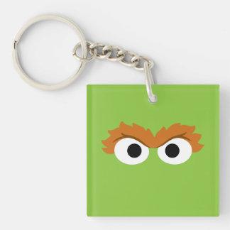Oscar the Grouch Big Face Keychain