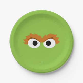 Oscar the Grouch Big Face Paper Plate