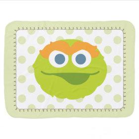 Oscar the Grouch Big Face Swaddle Blanket