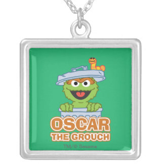 Oscar the Grouch Classic Style Silver Plated Necklace