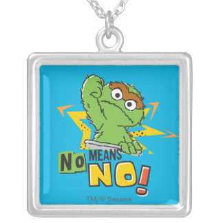 Oscar the Grouch Comic Silver Plated Necklace
